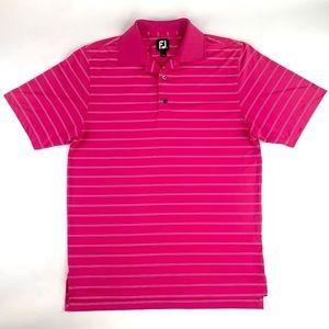 FootJoy FJ Golf Polo Shirt Size S Pink Striped